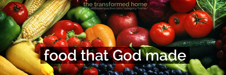 food that God made | the transformed home at a little perspective