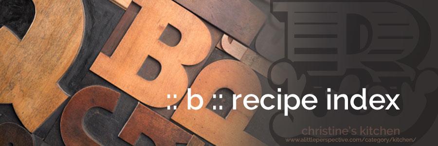 :: b :: recipe index
