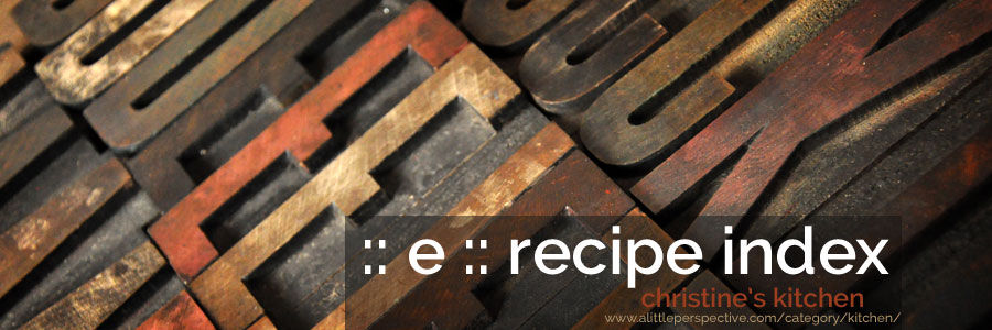 :: e :: recipe index