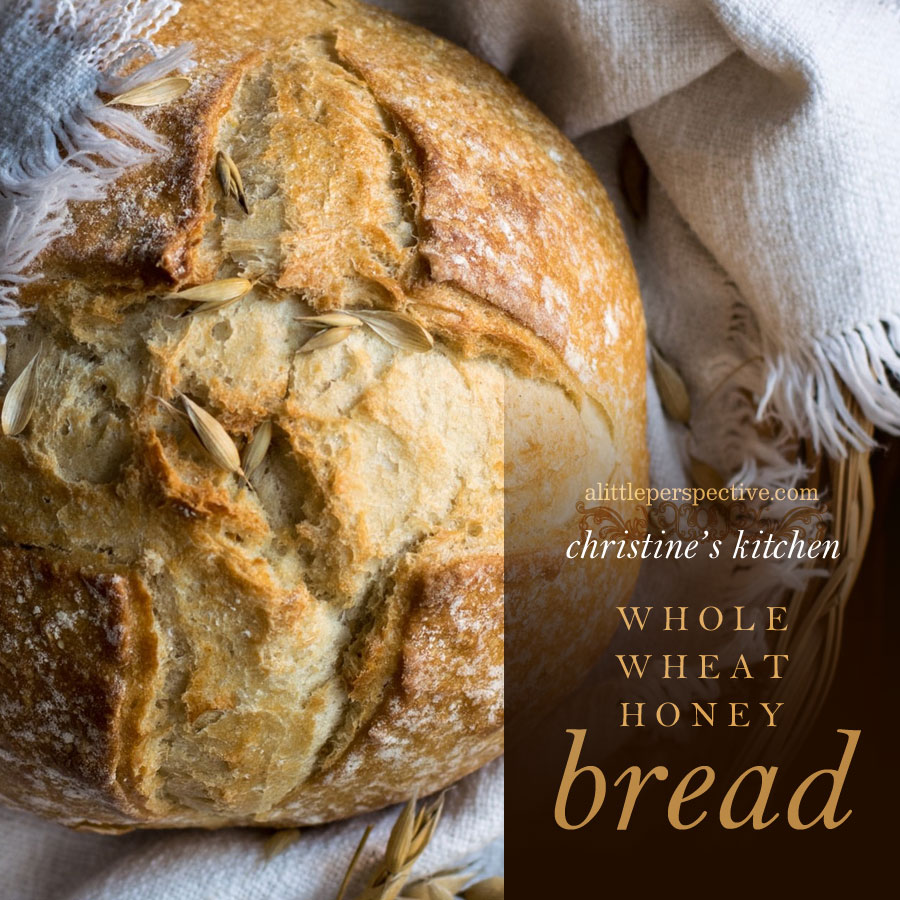 whole wheat honey bread | christine's kitchen at alittleperspective.com