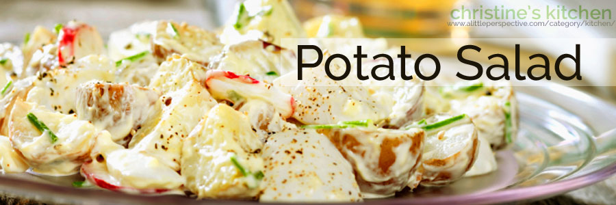 potato salad | christine's kitchen at a little perspective