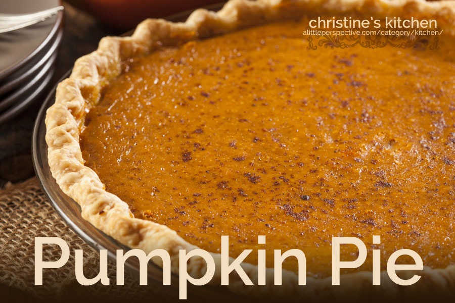 pumpkin pie | christine's kitchen at alittleperspective.com