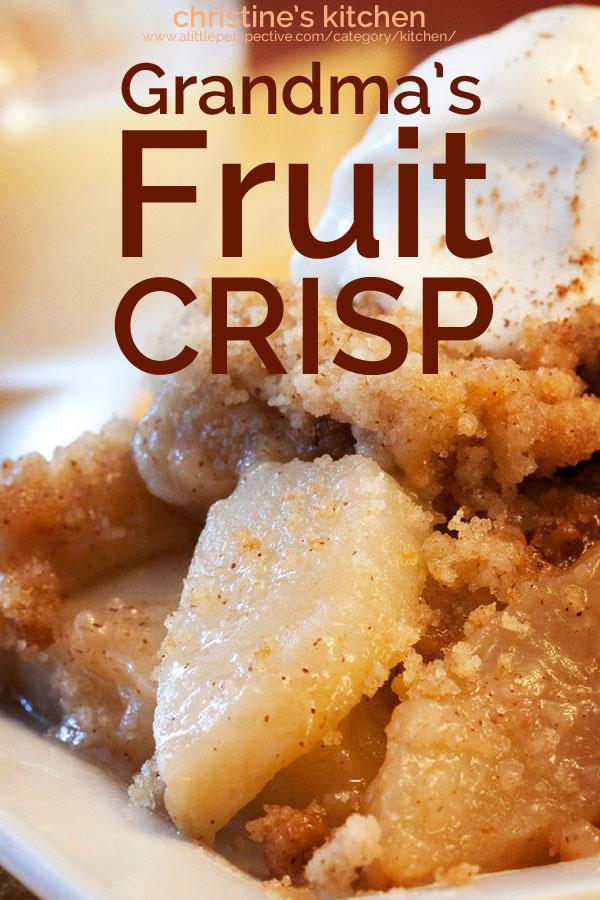grandma's fruit crisp