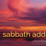 sabbath addendum