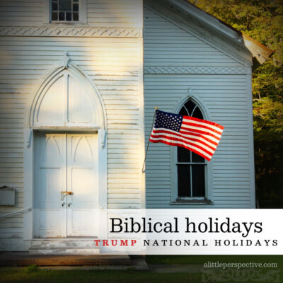 biblical holidays trump national holidays
