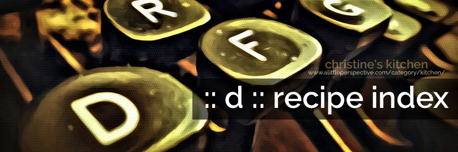 :: d :: recipe index