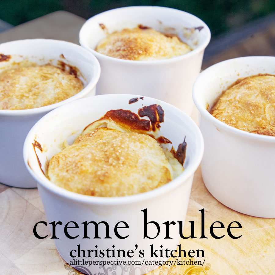creme brulee | christine's kitchen at alittleperspective.com
