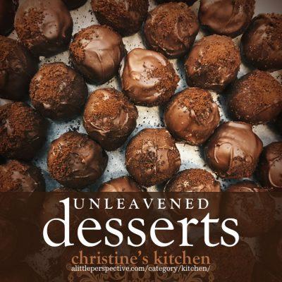 unleavened desserts