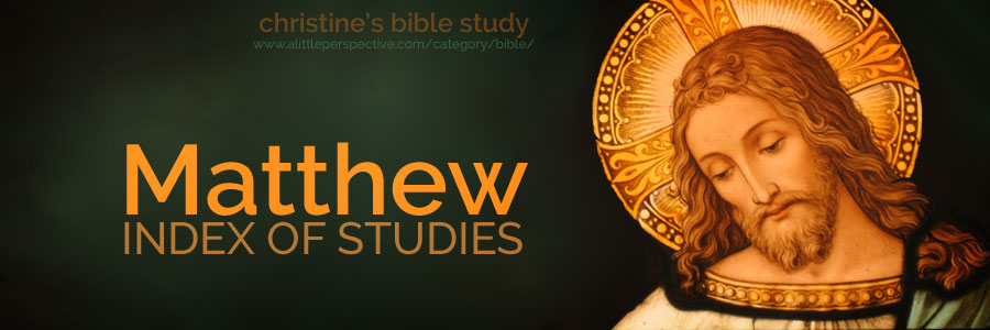 matthew index of studies | christine's bible study at a little perspective