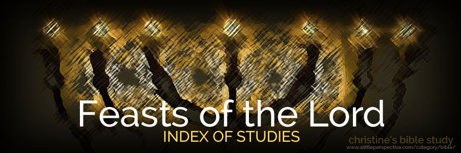 feasts of the Lord index of studies | christine's bible study at a little perspective