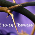 deuteronomy 6:10-15; beware