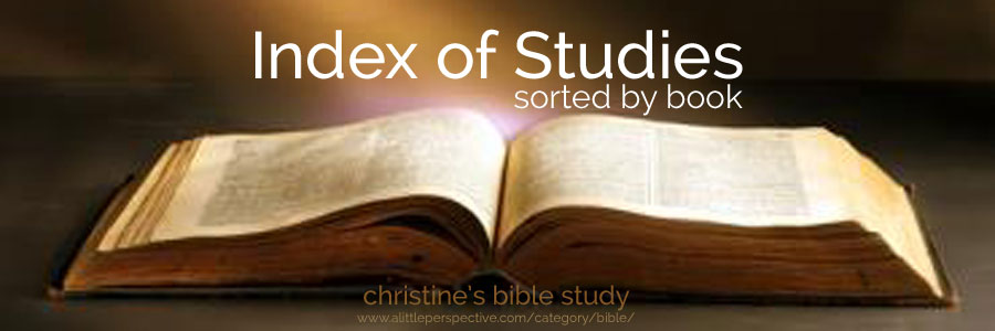 Index of studies sorted by book