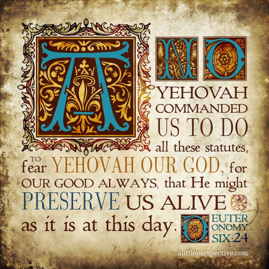 Deu 6:24 | scripture pictures at alittleperspective.com
