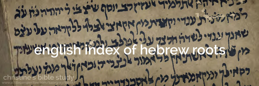 english index of hebrew roots