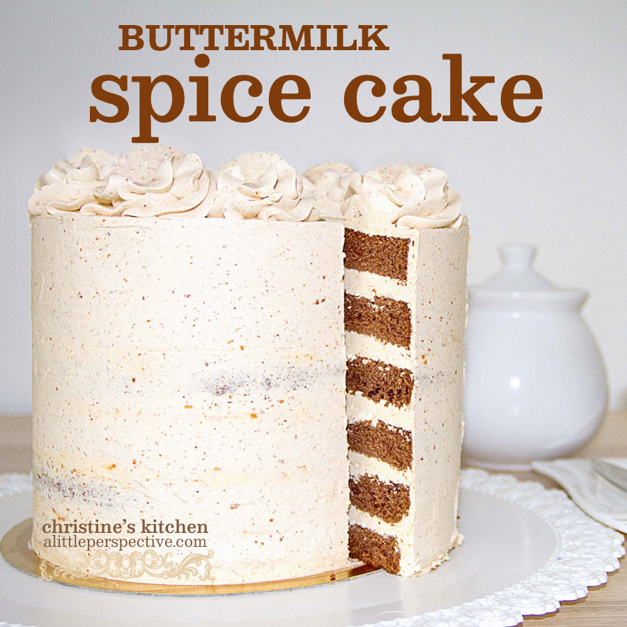 buttermilk spice cake | christine's kitchen at alittleperspective.com