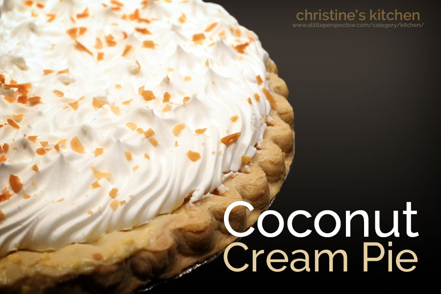 coconut cream pie | christine's kitchen at a little perspective