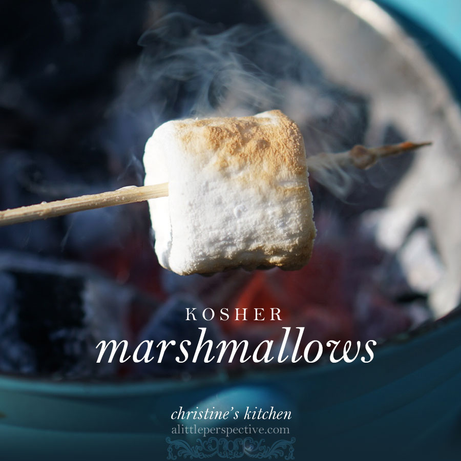 kosher marshmallows | christine's kitchen at alittleperspective.com