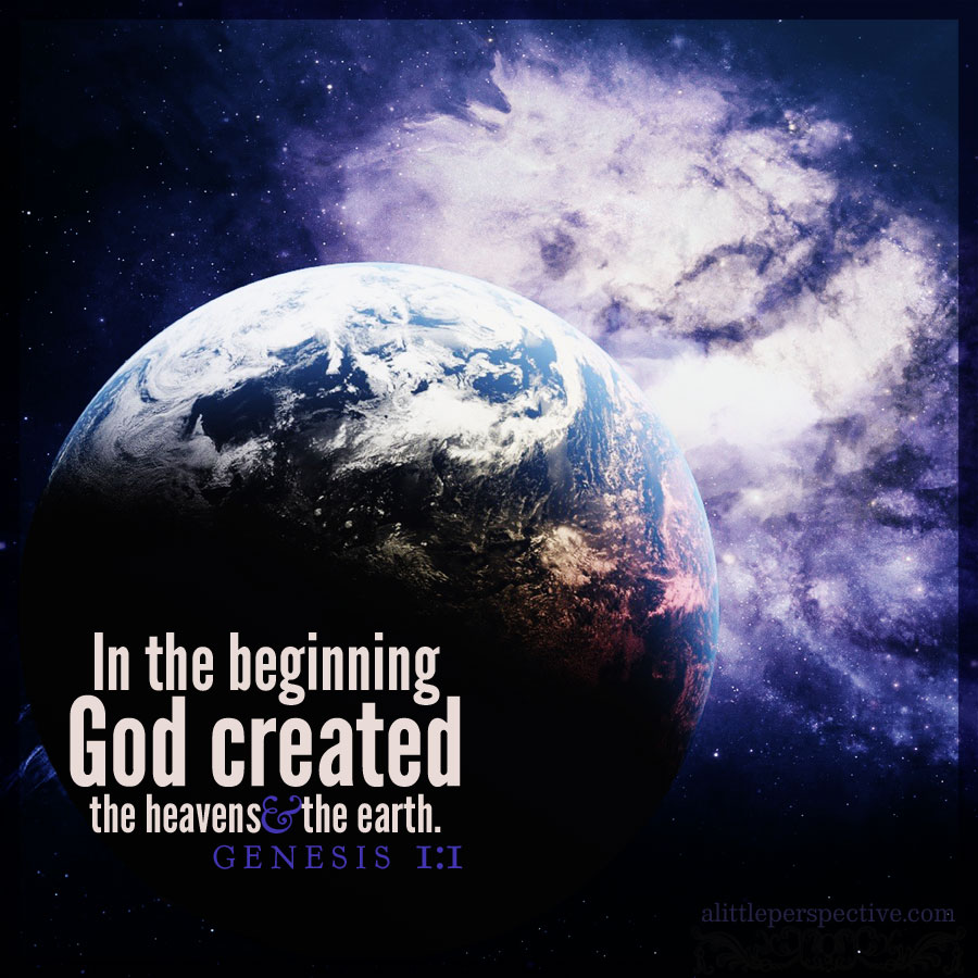 genesis 1:1-5, created and designed