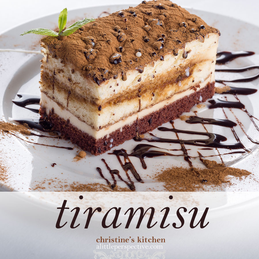 tiramisu | christine's kitchen at alittleperspective.com