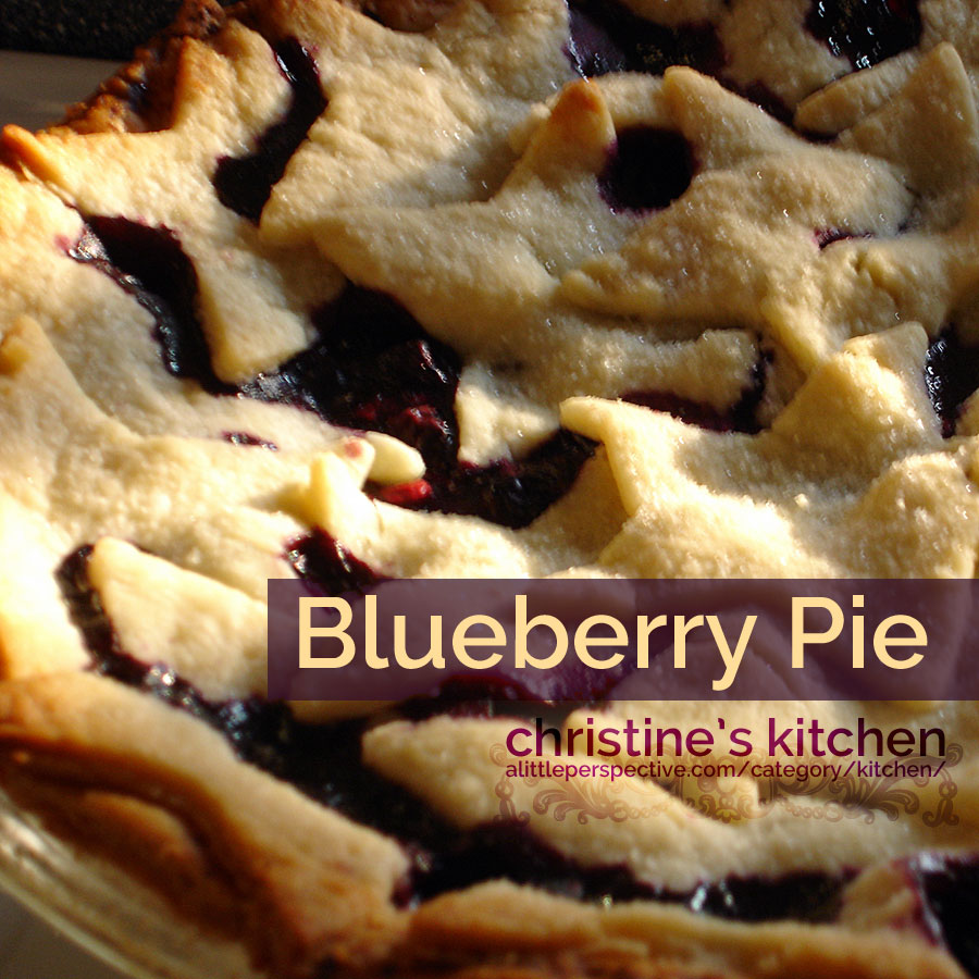 blueberry pie | christine's kitchen at alittleperspective.com