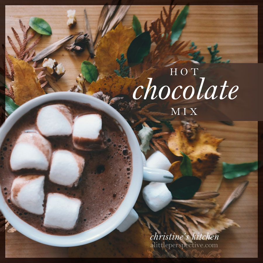 hot chocolate mix | christine's kitchen at alittleperspective.com