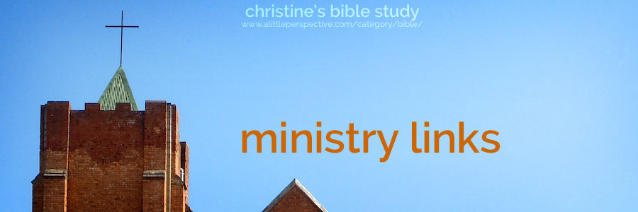 ministry links | christine's bible study at a little perspective