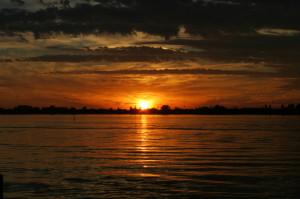 january 2011 sunset off the gulf coast of florida