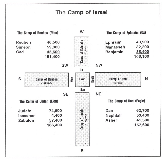 encampment of the tribes around the tabernacle | christine's bible study at a little perspective