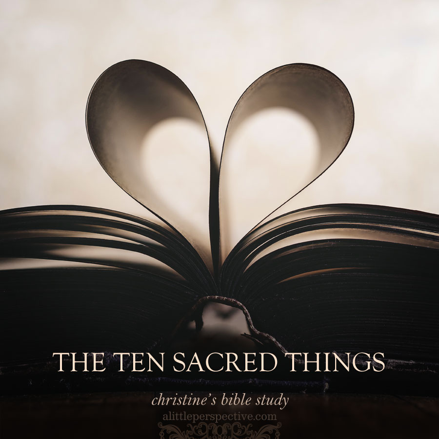 the ten sacred things | alittleperspective.com