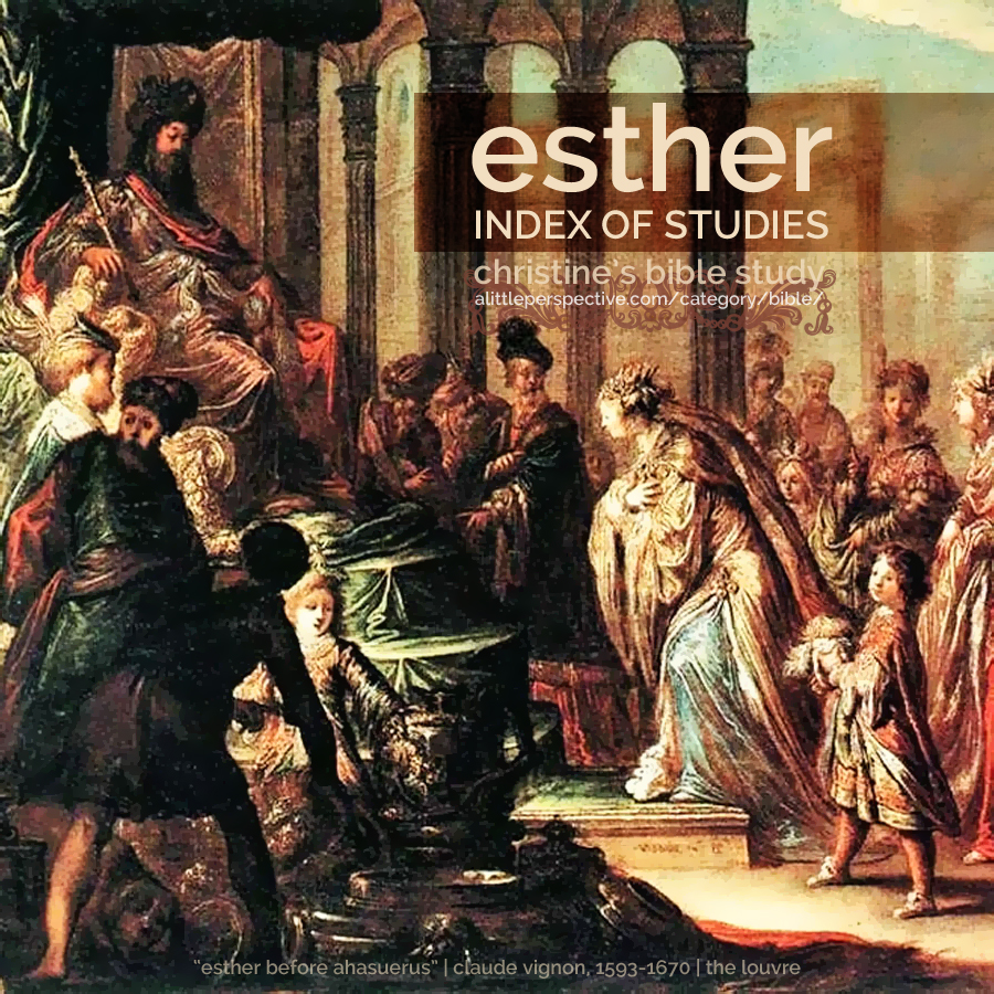 esther index of studies | christine's bible study at alittleperspective.com
