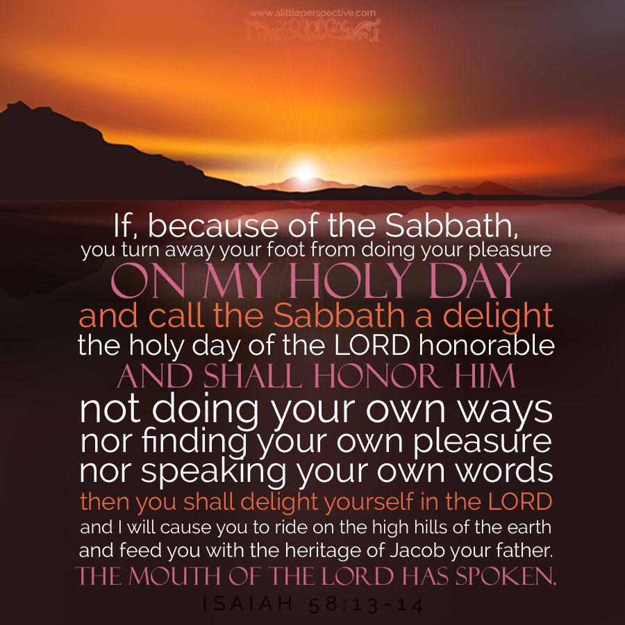 Isa 58:13-14