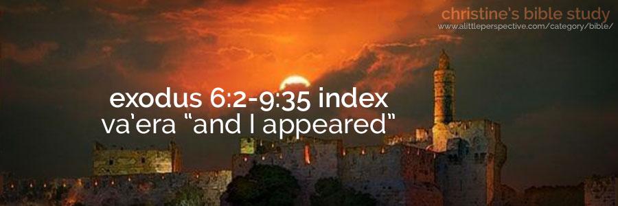"""exodus 6:2-9:35 va'era """"and I appeared"""" index"""