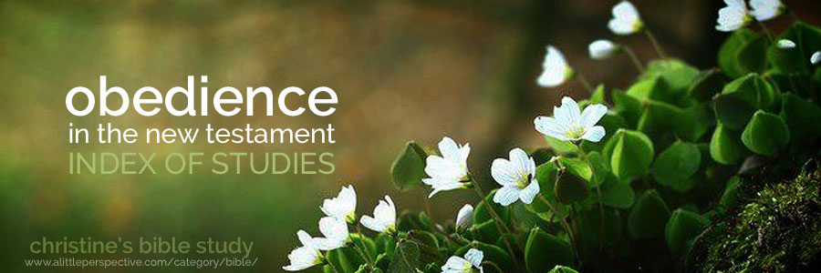 obedience in the new testament index of studies | christine's bible study at a little perspective
