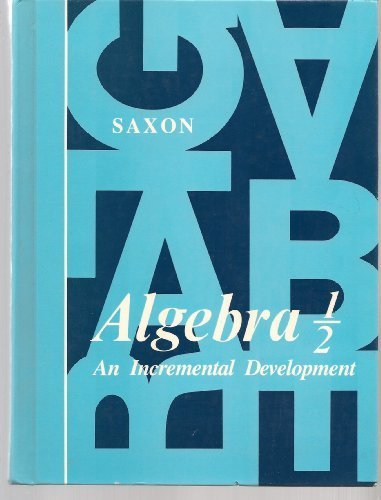 Saxon Algebra 1/2, first edition