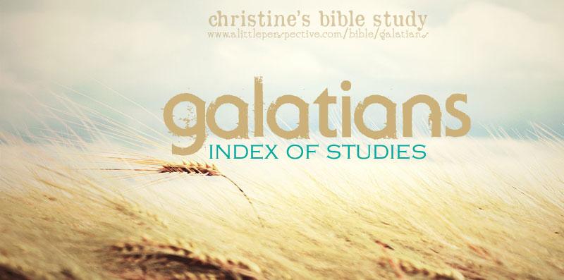 Galatians index of studies