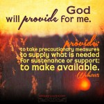 God will provide for me