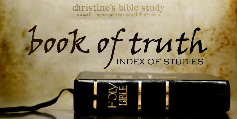 book of truth index of studies