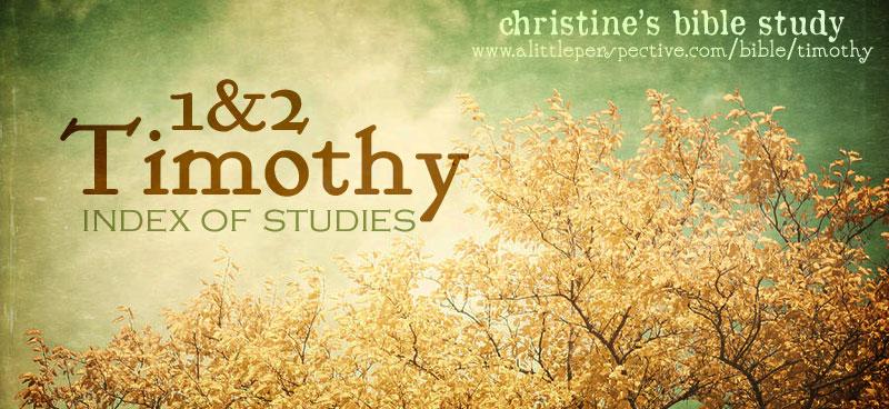 1 & 2 timothy index of studies