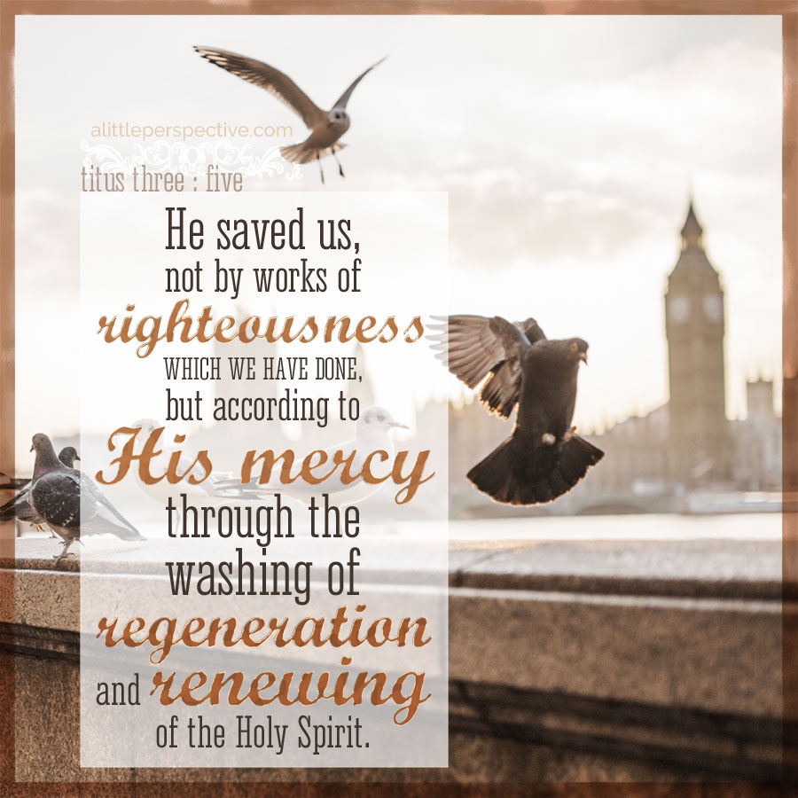 Titus 3:5 | scripture pictures at alittleperspective.com