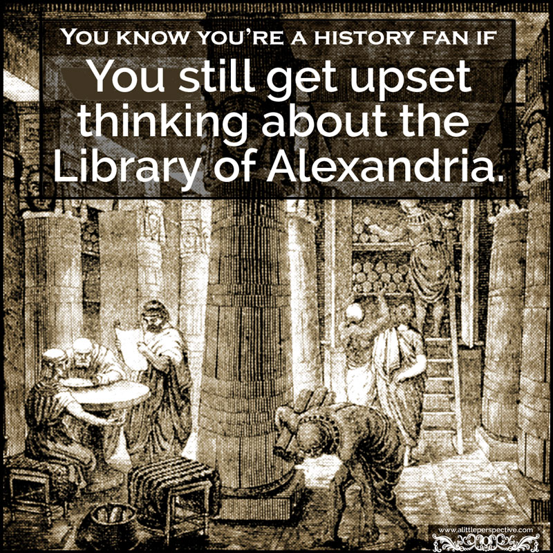 You know you're a history fan if ...