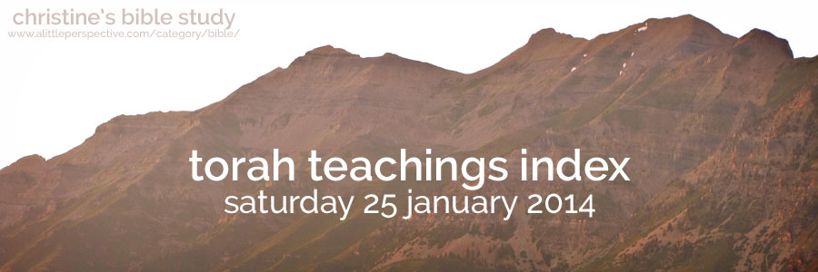 torah teachings index for saturday 25 january 2014