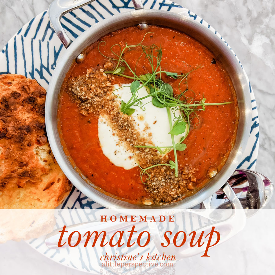 homemade tomato soup | christine's kitchen at alittleperspective.com