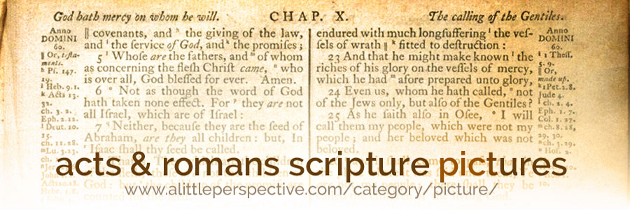 acts & romans scripture pictures