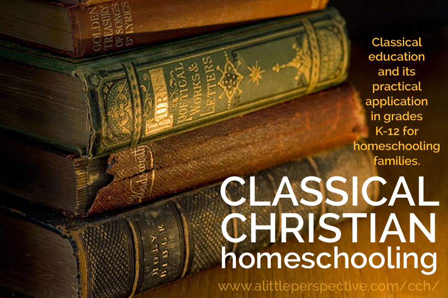 classical christian homeschooling | a little perspective