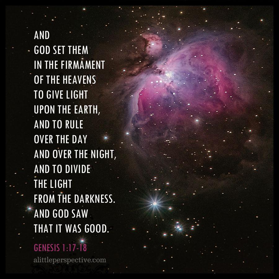 Gen 1:17 | scripture pictures at alittleperspective.com