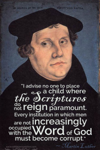 martin luther on schooling | biblical homeschooling at a little perspective