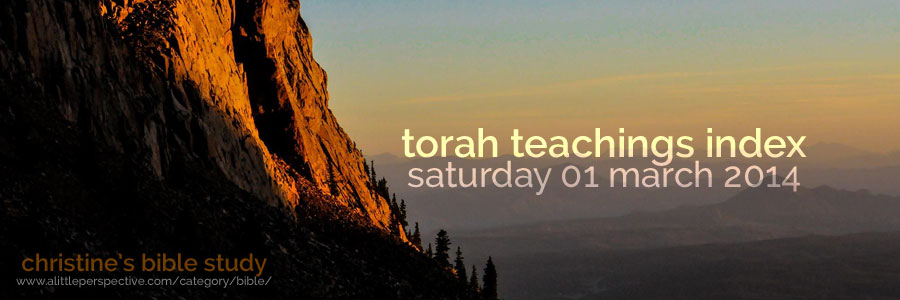 torah teachings index for sat 01 mar 2014 | christine's bible study at a little perspective