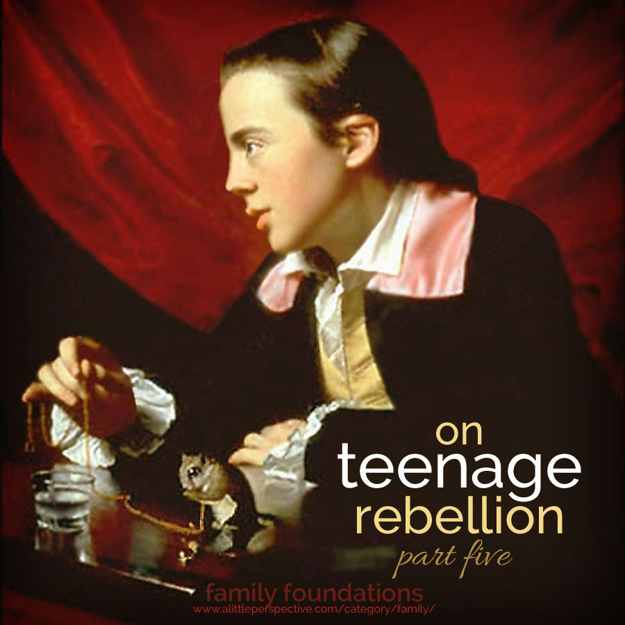 on teenage rebellion, part five