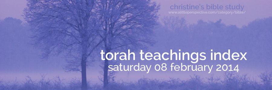 torah teachings index for sat 08 feb 2014