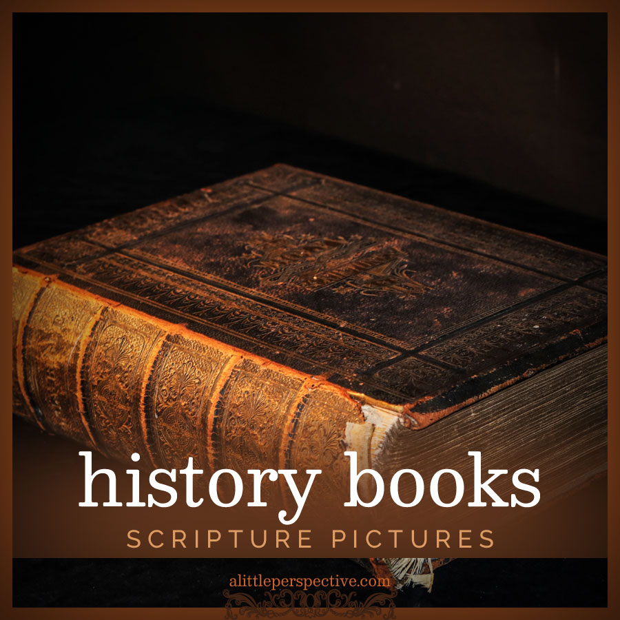 history books scripture pictures | alittleperspective.com